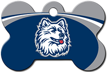 Connecticut Huskies Dog ID Tag